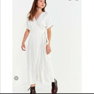 White linen urban outfitters dress